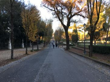 Open Running in Villa Borghese